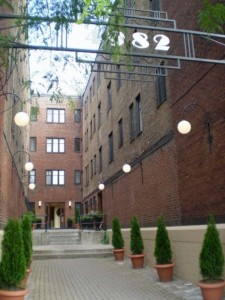 The courtyard for our apartment