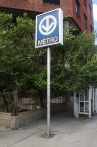 A Métro station in Montréal