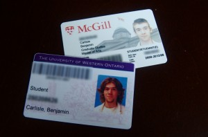 My new McGill card and my old UWO card