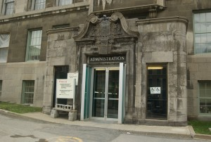 This is the James Administration Building at McGill University