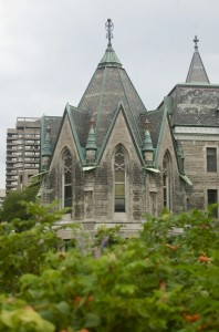 A building near the Redpath Museum on the McGill campus