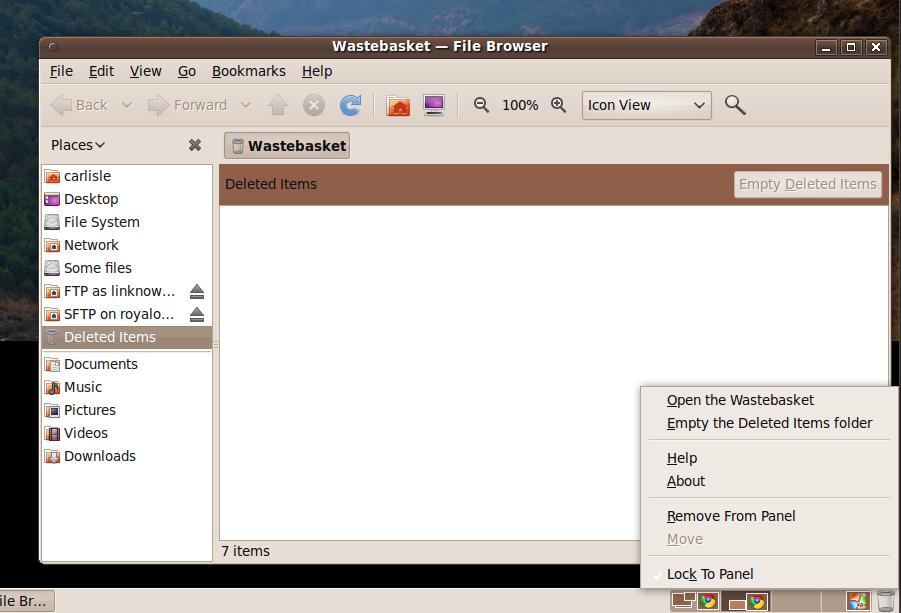 "Ubuntu ""Wastebasket"" vs ""Deleted Items folder"" – The Grey Literature"