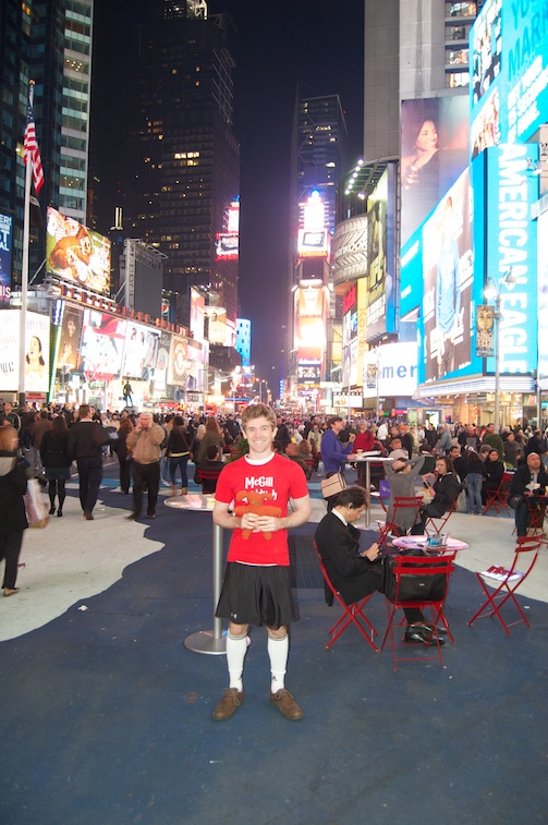 Monstrosity and me at Times Square, NYC