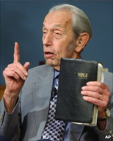 File photo of Harold Camping, credit: BBC