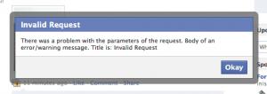 I think I broke Facebook