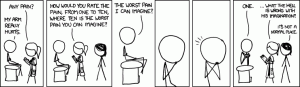 """Pain Rating"" from xkcd.com"