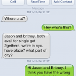 Strange text message